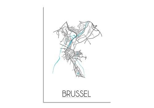 DesignClaud Brussel Plattegrond poster
