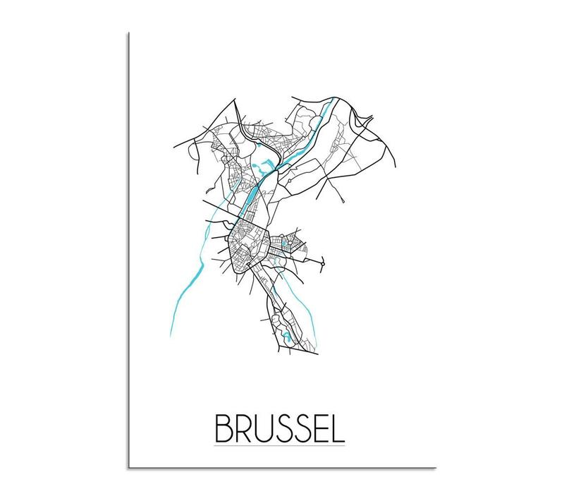 Brussel Plattegrond poster