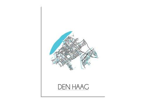 DesignClaud Den Haag Plattegrond poster
