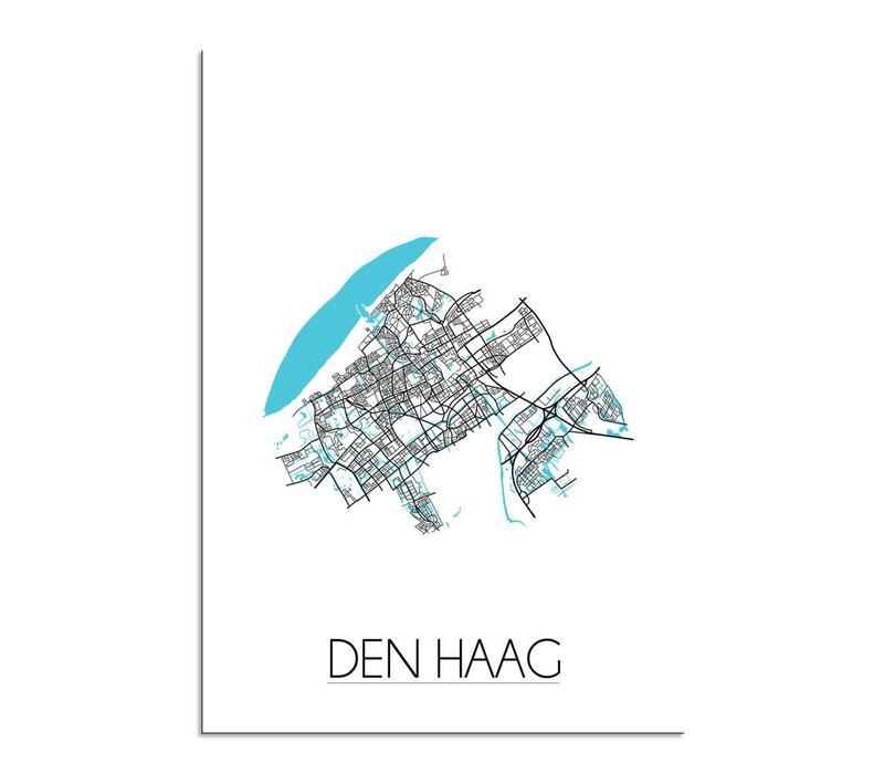 Den Haag Plattegrond poster