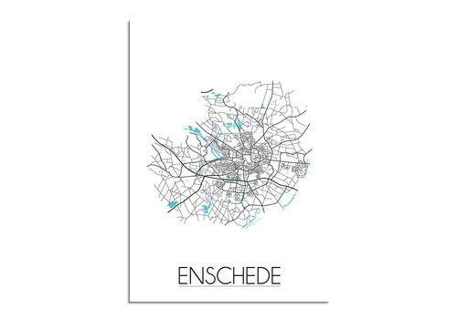 DesignClaud Enschede Plattegrond poster