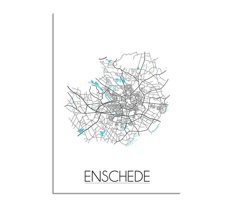 Enschede Plattegrond poster