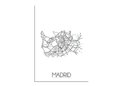 DesignClaud Madrid Plattegrond poster
