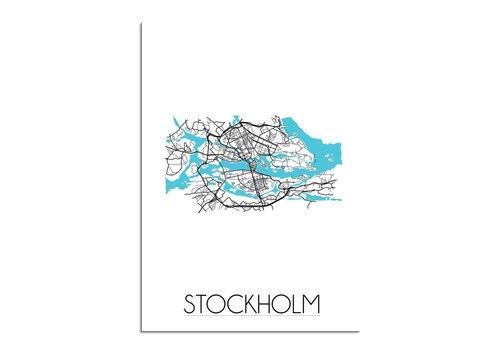 DesignClaud Stockholm Plattegrond poster