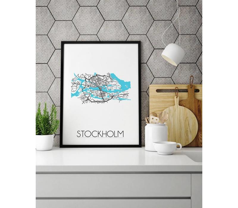 Stockholm Plattegrond poster