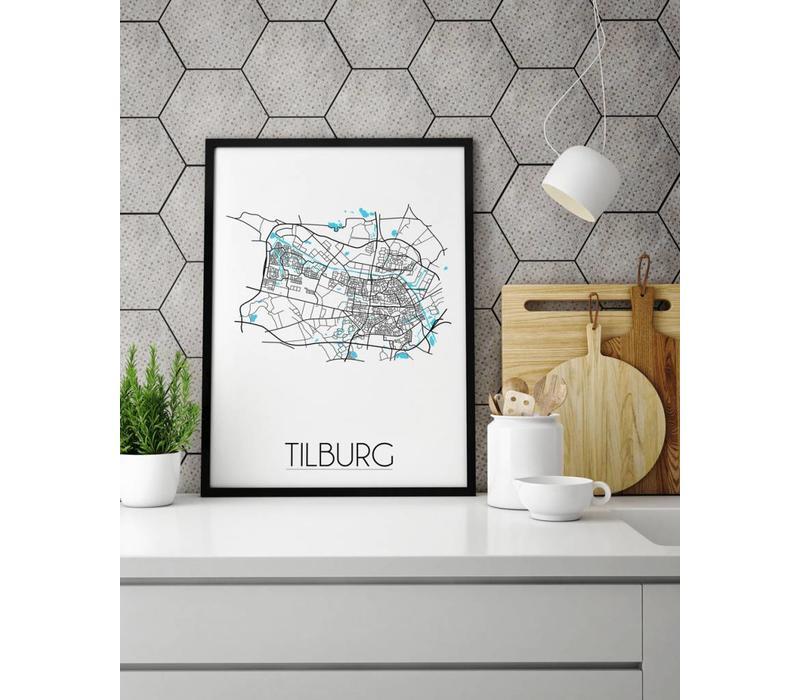 Tilburg Plattegrond poster