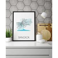 Bangkok Plattegrond poster