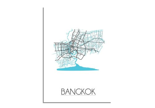 DesignClaud Bangkok Plattegrond poster