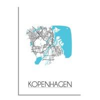Kopenhagen Plattegrond poster
