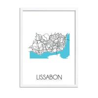 Lissabon Plattegrond poster