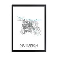 Marrakesh Plattegrond poster