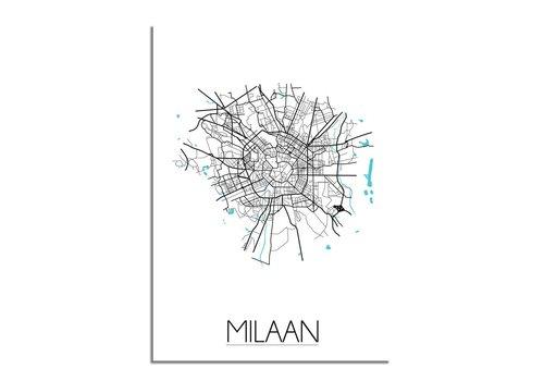 DesignClaud Milaan Plattegrond poster