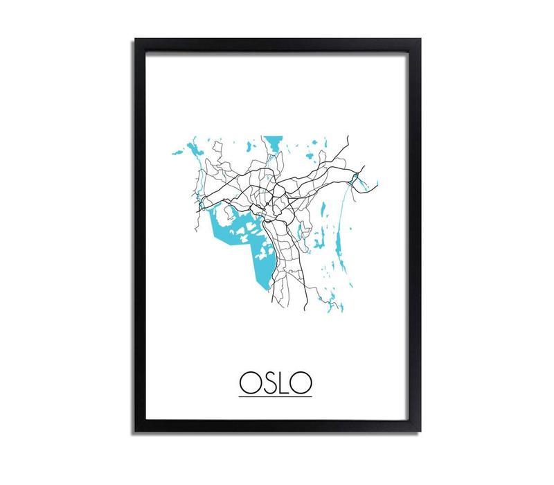 Oslo Plattegrond poster