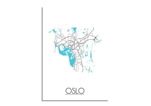 DesignClaud Oslo Plattegrond poster