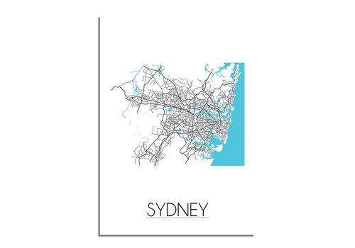 DesignClaud Sydney Plattegrond poster
