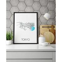Tokyo Plattegrond poster