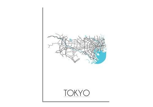 DesignClaud Tokyo Plattegrond poster