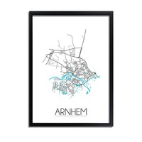Arnhem Plattegrond poster