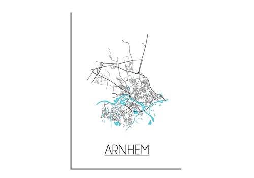 DesignClaud Arnhem Plattegrond poster
