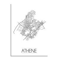 Athene Plattegrond poster