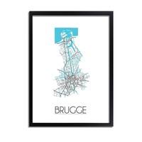 Brugge Plattegrond poster