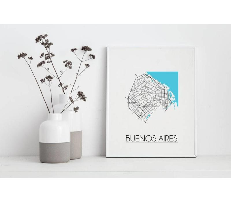 Buenos Aires Plattegrond poster