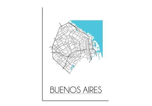 DesignClaud Buenos Aires Plattegrond poster