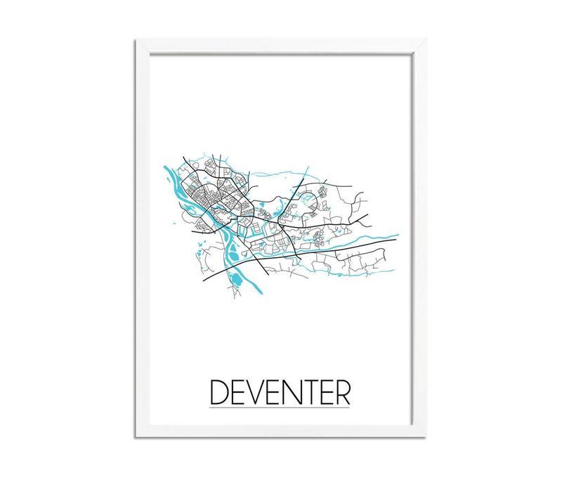 Deventer Plattegrond poster