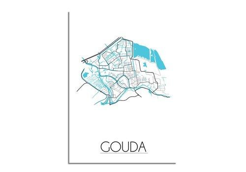 DesignClaud Gouda Plattegrond poster