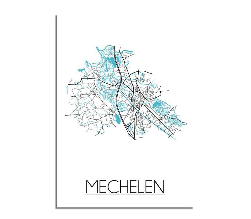 Mechelen Plattegrond poster
