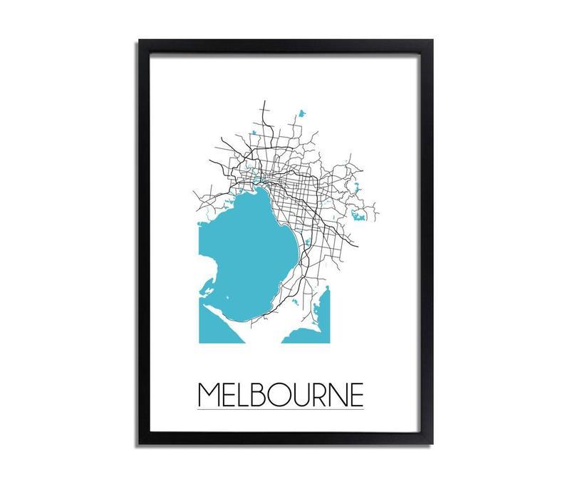 Melbourne Plattegrond poster