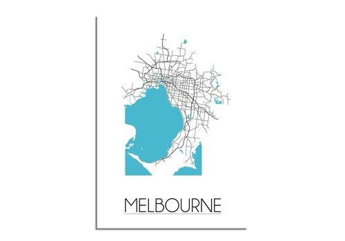 DesignClaud Melbourne Plattegrond poster