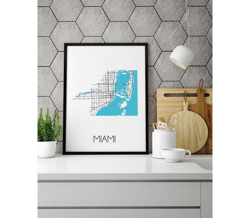 Miami Plattegrond poster