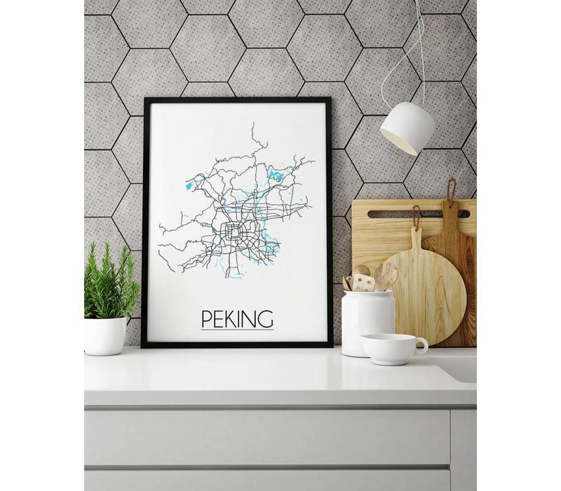 Peking Plattegrond poster