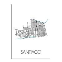 Santiago Plattegrond poster