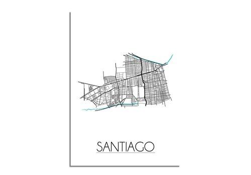 DesignClaud Santiago Plattegrond poster