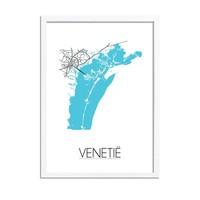 Venetië Plattegrond poster