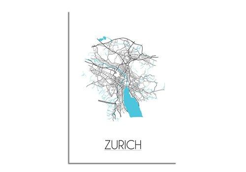 DesignClaud Zurich Plattegrond poster