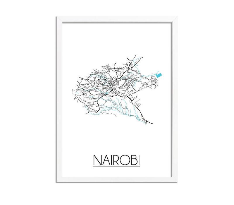 Nairobi Plattegrond poster