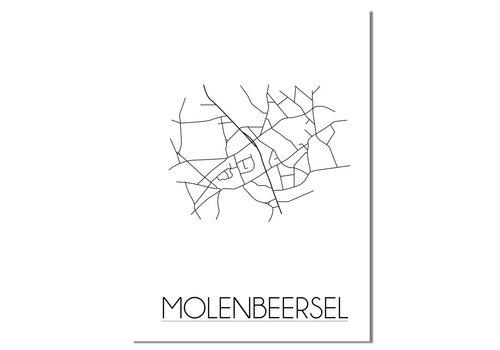 DesignClaud Molenbeersel Plattegrond poster
