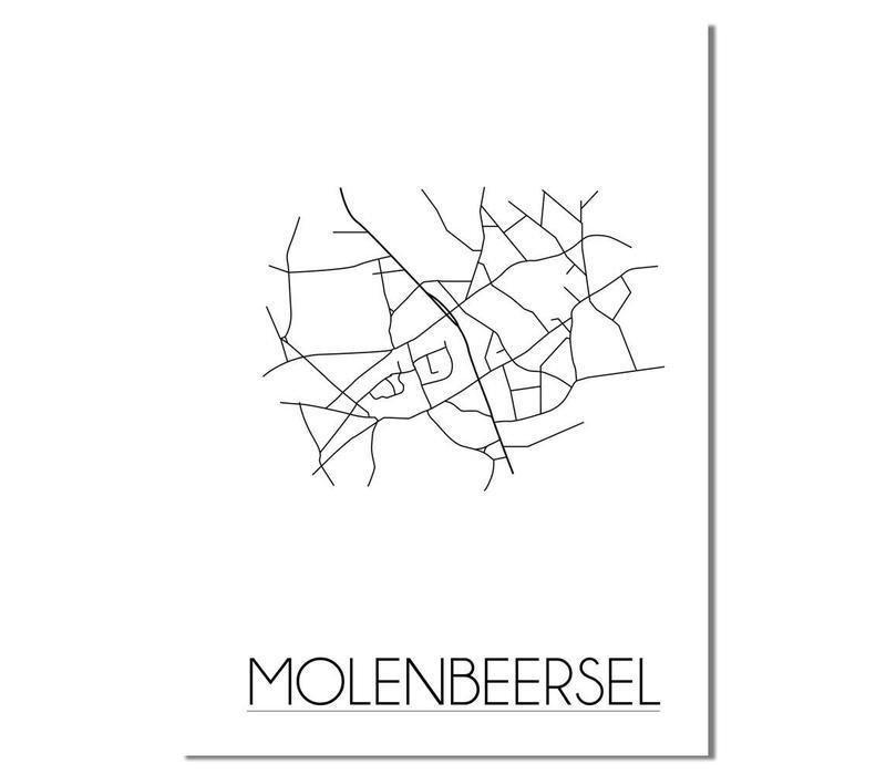 Molenbeersel Plattegrond poster