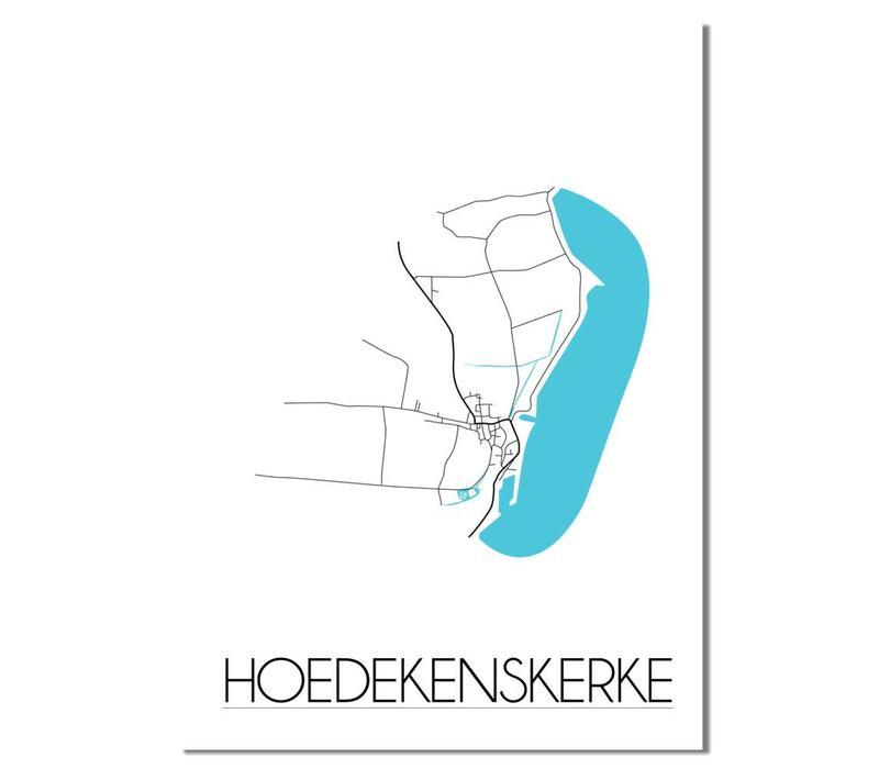 Hoedekenskerke Plattegrond poster