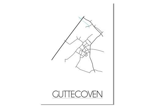 DesignClaud Guttecoven Plattegrond poster