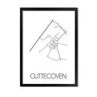Guttecoven Plattegrond poster