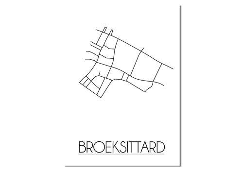 DesignClaud Broeksittard Plattegrond poster