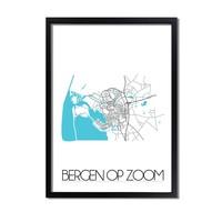 Bergen op Zoom Plattegrond poster