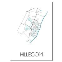 Hillegom Plattegrond poster