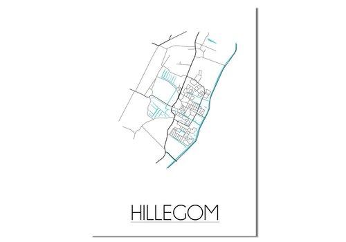 DesignClaud Hillegom Plattegrond poster