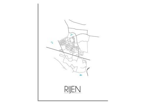 DesignClaud Rijen Plattegrond poster