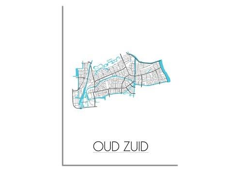 DesignClaud Amsterdam Oud Zuid Plattegrond poster
